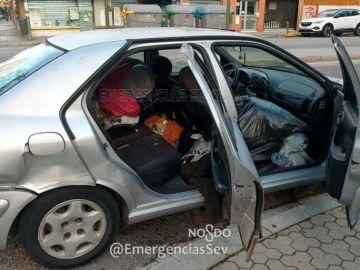 Estado del vehículo en el que circulaban ocho personas