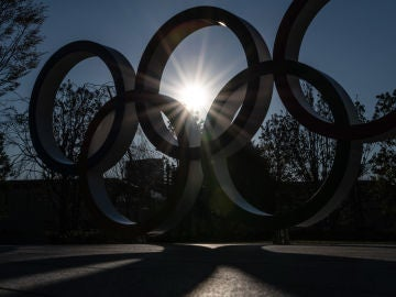 Anillos olímpicos en Tokio