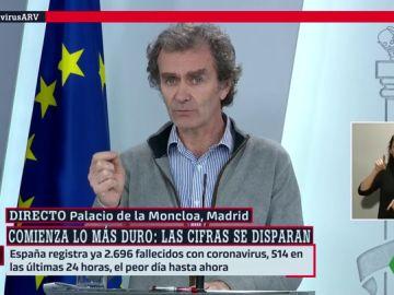 """Simón alerta de que la presión sobre los hospitales y UCI irá """"mas allá del momento en que se controle la transmisión"""""""