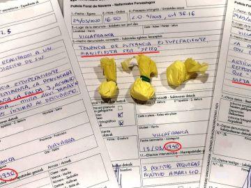 Denuncias y droga incautada a la octogenaria