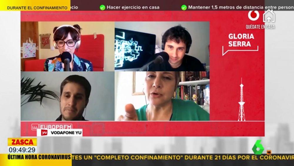 La amenaza de Gloria Serra a los que se saltan el confinamiento