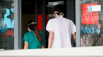 Personal sanitario del hospital La Paz de Madrid
