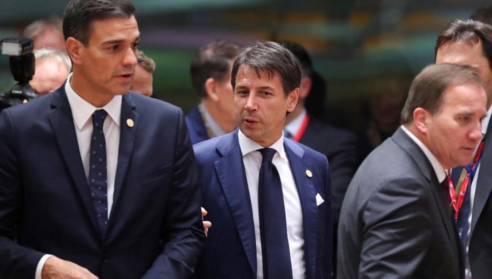 El presidente del Gobierno, Pedro Sánchez, y el primer ministro italiano Giuseppe Conte en una foto de archivo