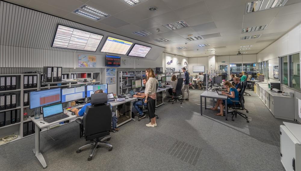 Sala de control de los satélites Sentinel.