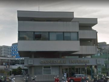 Hospital de Rimini donde estuvo ingresado con coronavirus el anciano de 101 años