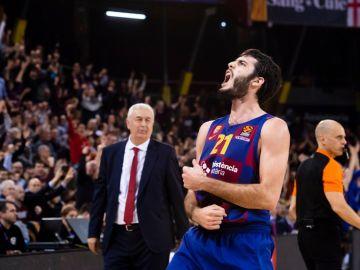 Álex Abrines, con el Barça