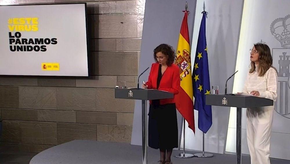 María Jesús Montero y Yolanda Díaz
