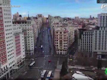 """Las sorprendentes vistas desde la casa de David Broncano reflejan el vacío de Madrid en plena cuarentena: """"Mira el cielo, esto es la hostia"""""""