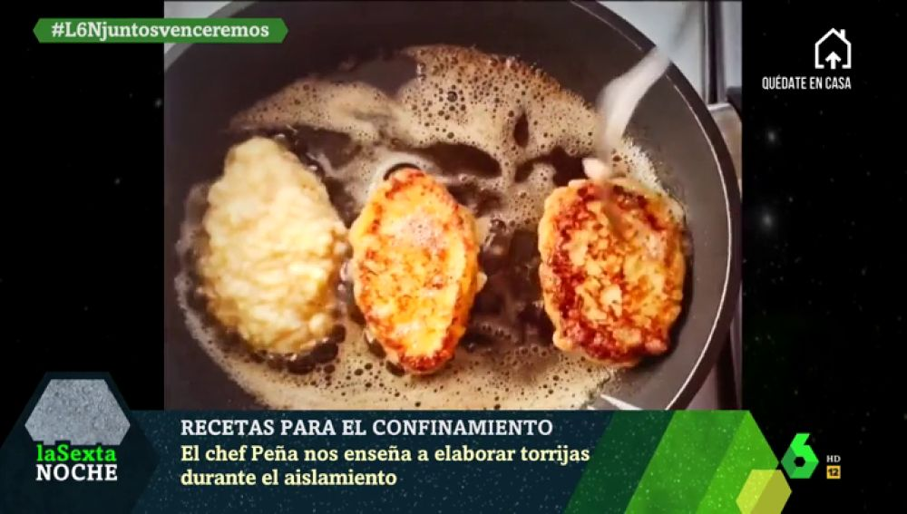El chef Peña cocina torrijas