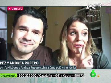 Iñaki López y Andrea Ropero