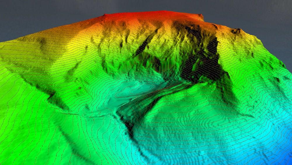 Modelos en 3D de lagos de montana con un sonar portatil y laser aereo