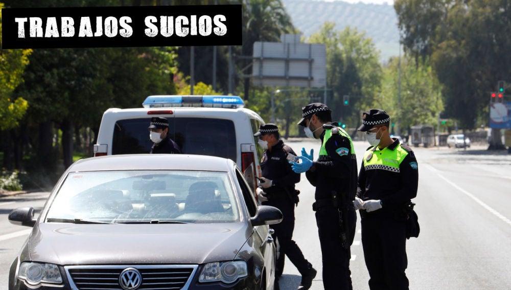 Controles de la Policía en Córdoba durante el estado de alarma