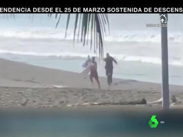 Policía de Costa Rica dispara a un surfista