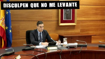 Pedro Sánchez, durante el Consejo de Ministros Extraordinario