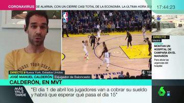 """Calderón, exjugador de la NBA: """"Muchos equipos han donado dinero para que los empleados de los pabellones cobren su sueldo"""""""