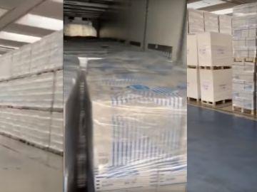 Folios, la carga del camionero que dice llevar material sanitario a Francia