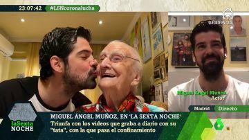 """Así está viviendo el confinamiento Miguel Ángel Muñoz junto a su 'tata' de 95 años: """"Está siendo una etapa maravillosa"""""""