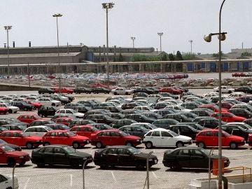 Vehículos en el parking de SEAT