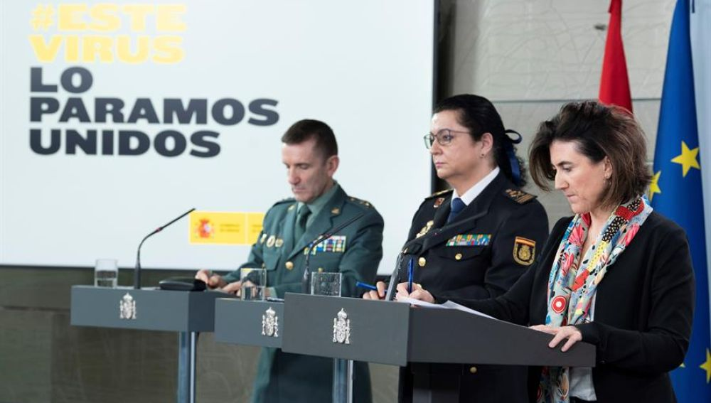 El jefe del Estado Mayor de la Guardia Civil en una de las comparecencias diarias