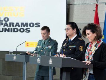 El jefe del Estado Mayor de la Guardia Civil en una de las comparecencias diarias
