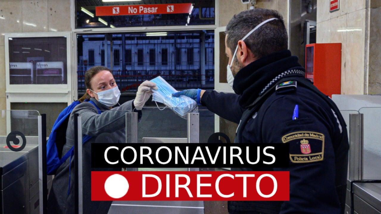 Coronavirus en directo   Últimas noticias sobre el COVID-19, el estado de alarma y los afectados