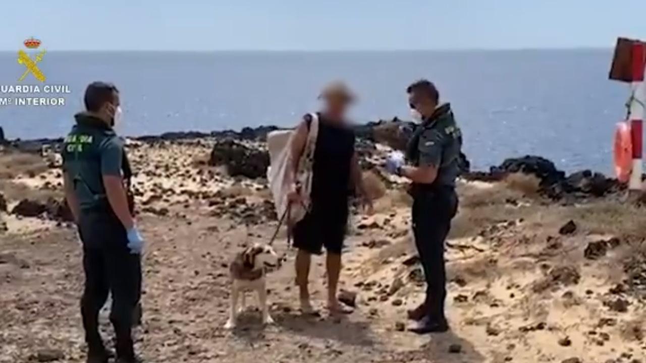 Bañista interceptado por la Guardia Civil