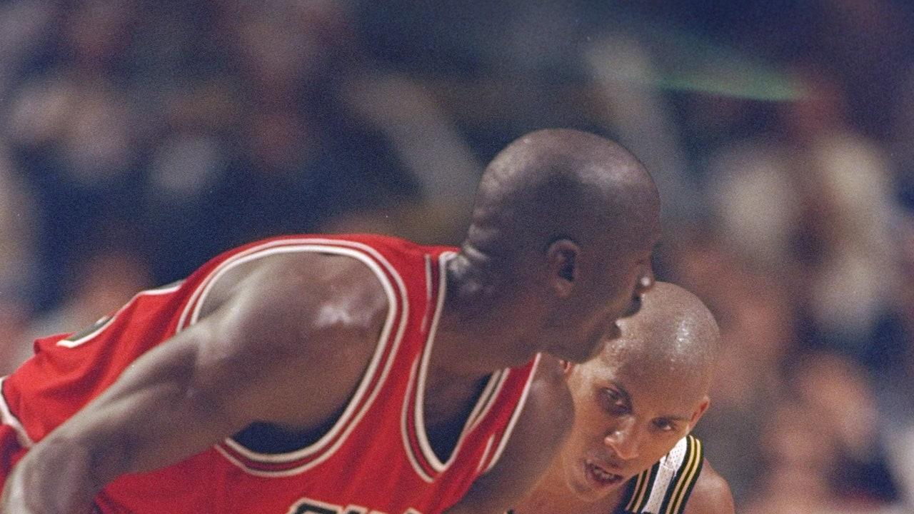 Michael Jordan y Reggie Miller