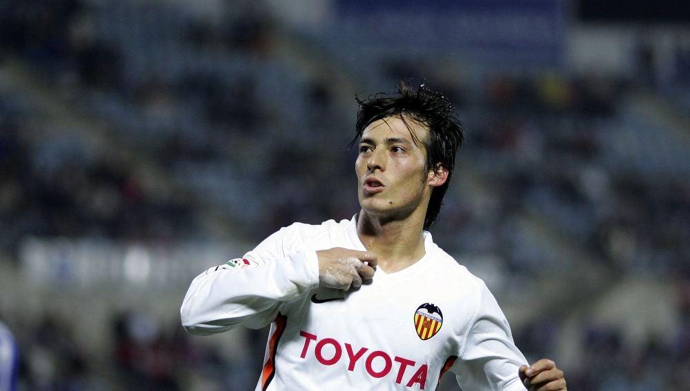 David Silva defendiendo los colores del Valencia CF