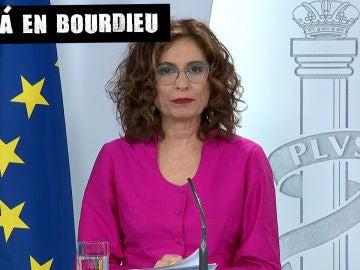 María Jesús Montero, en la rueda de prensa