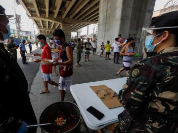 Las Fuerzas Armadas de Filipinas en la ciudad de Quezon
