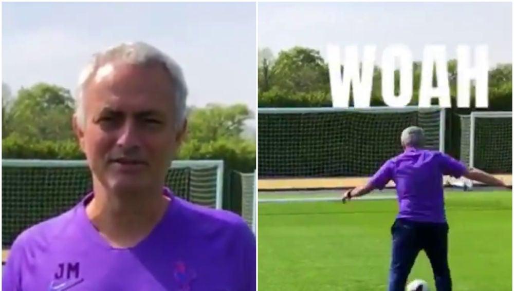 Jose Mourinho y el reto del 'penalti mareado'
