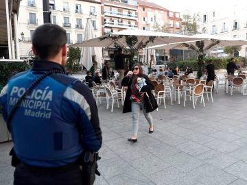 Una terraza en el centro de Madrid