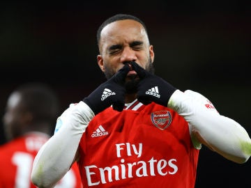 Lacazette, con el Arsenal