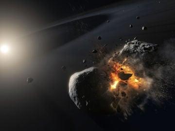 Lo que parecía un planeta, podría ser la huella de una colisión espacial