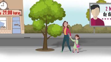 """El vídeo del Gobierno sobre las recomendaciones para la salida de los niños: """"Sigue la fórmula de los cuatro unos"""""""
