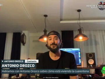 Antonio Orozco cuenta en Liarla Pardo cómo vive la cuarentena.