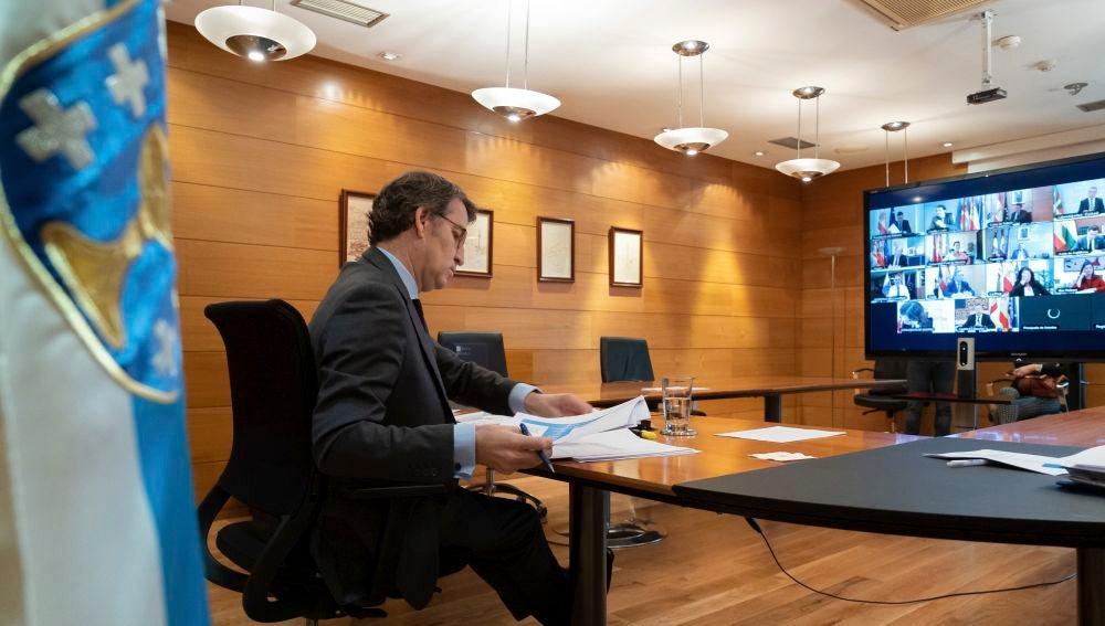 El presidente de la Xunta, Alberto Núñez Feijóo, en una imagen de archivo