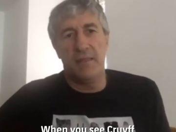 """Quique Setién y su admiración por Johan Cruyff: """"Dices 'host...', a mí lo que me gusta es esto"""""""