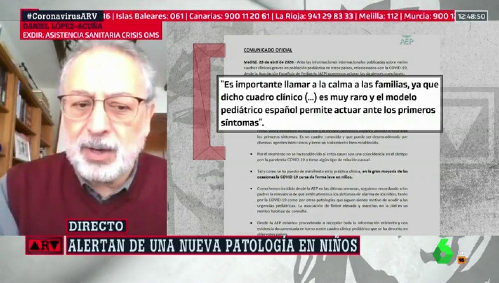 """López-Acuña, sobre el shock en niños con COVID: """"No entremos en una alarma pensando que va a ocurrir a todos"""""""
