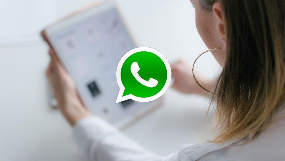WhatsApp en una tableta