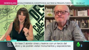 Mamen Mendizábal entrevista en Más Vale Tarde a Juan Echanove