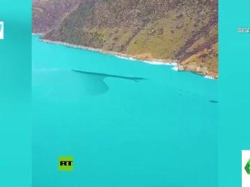 Las impresionantes imágenes del lago Jade descongelándose