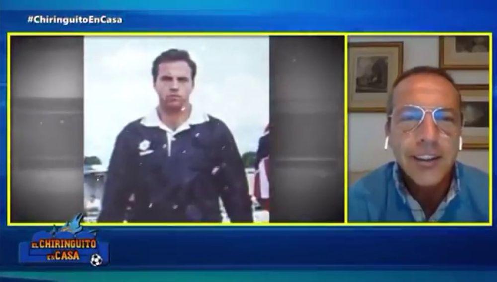 Se hará viral: la foto de Cristóbal Soria en sus tiempos como árbitro que desató las risas en 'El Chiringuito'
