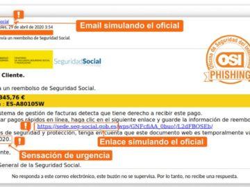 El e-mail falso que simula ser de la Seguridad Social