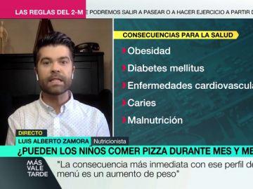 """Zamora advierte sobre los menús de los niños de Madrid: """"Aumenta la predisposición a tener diabetes o problemas cardiovasculares"""""""