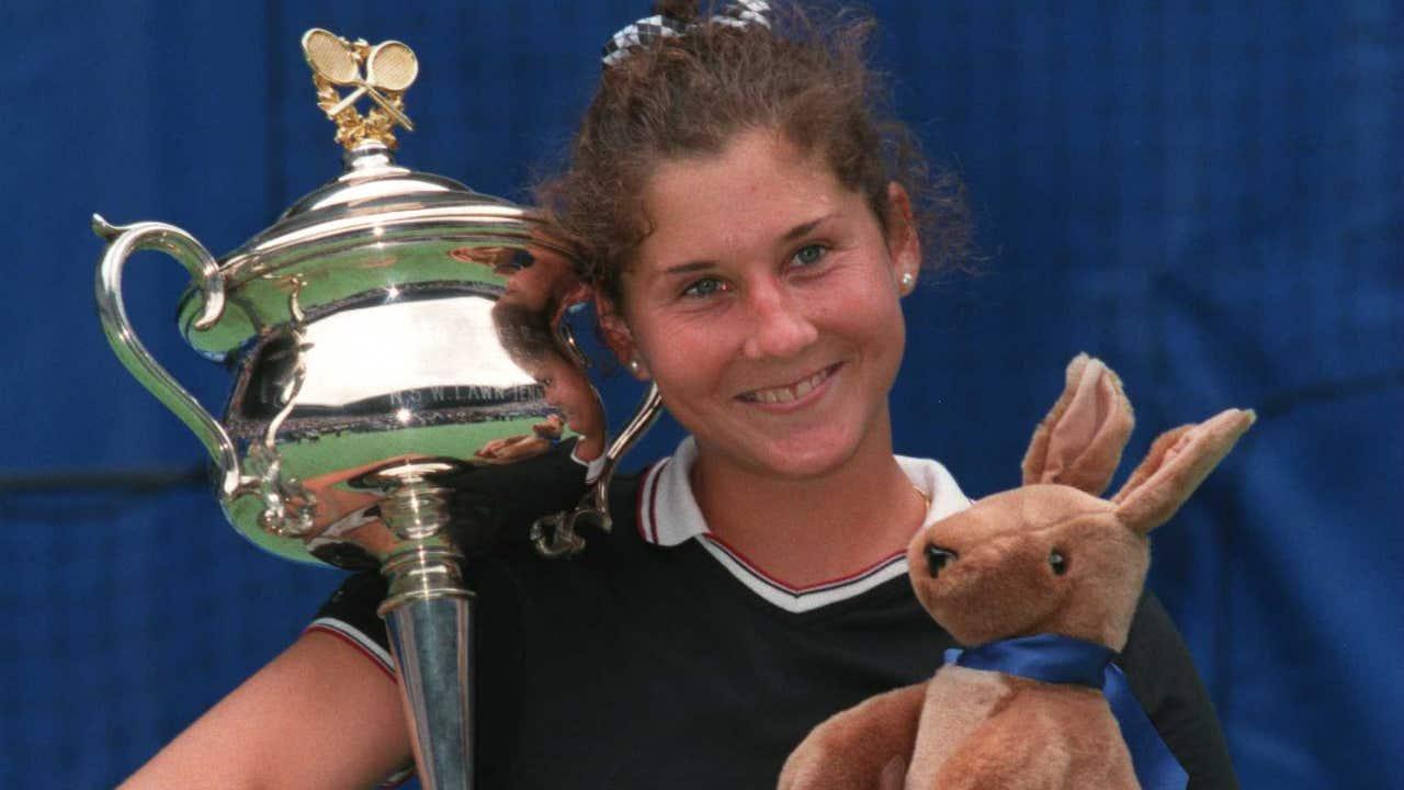 Monica Seles, tras ganar el Abierto de Estados Unidos