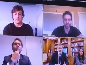 Fernando Alonso, Pau Gasol, Rafa Nadal y los reyes de España