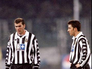 Zinedine Zidane y Alessandro Del Piero