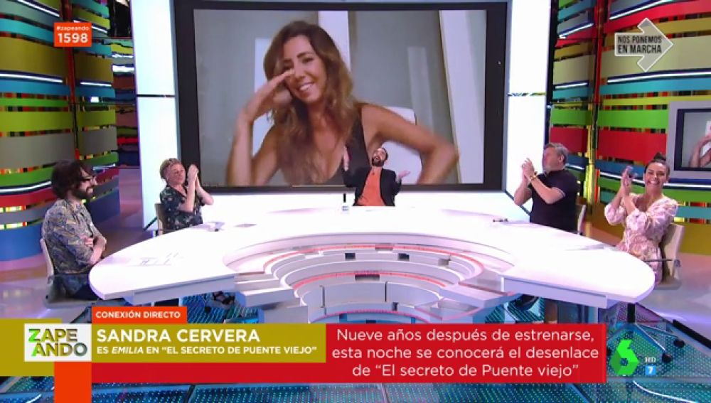 Plató de Zapeando con la actriz Sandra Cervera