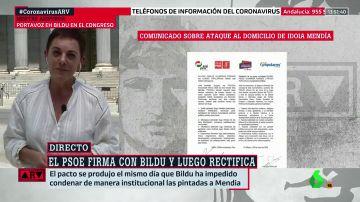 "Aizpurua (Bildu), sobre el ataque a la casa de Idoia Mendia: ""Rechazamos toda expresión de violencia"""